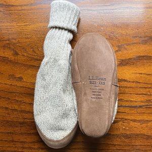 LL Bean wool slipper socks